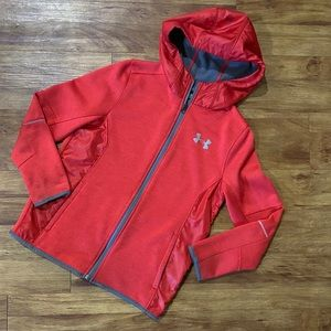 Under Armour Red Zip Up Hoodie Jacket - YMD